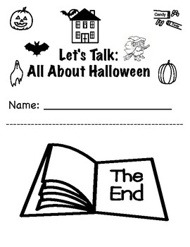 Let's Talk Halloween: Vocabulary Building Adapted BW Workbook