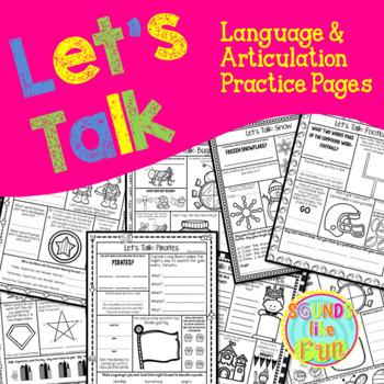 Let's Talk: Language & Articulation Practice Pages