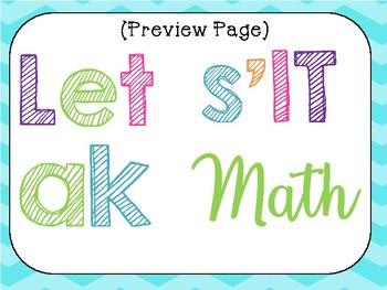 Let's Talk Math Bulletin Board