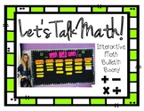 Let's Talk Math! (Interactive Bulletin Board Kit)