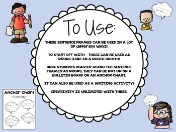 Let's Talk! Promote Conversation with these FUN Sentence Frames.