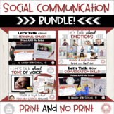 Let's Talk Social Communication Bundle:  Middle & High School