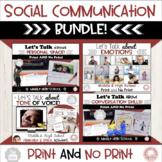 Let's Talk Social Communication Bundle:  Middle & High School