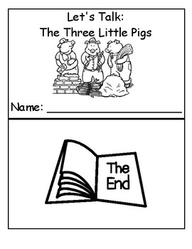 Let's Talk: The Three LIttle Pigs Vocabulary and Color Literacy Review