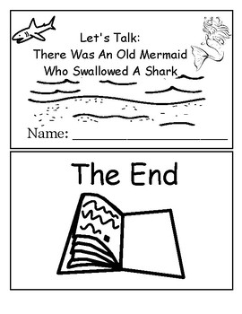 """Let's Talk: There Was An Old Mermaid Who Swallowed A Shark """"Point to"""" activity"""