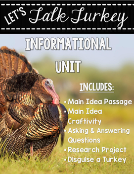 Let's Talk Turkey - Informational Unit {Main Idea Craftivity & More!}