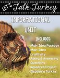 Let's Talk Turkey - Informational Unit {Main Idea Craftivity & More!}