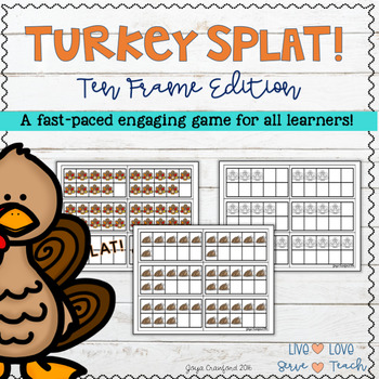 Let's Talk Turkey... Turkey Ten Frame SPLAT