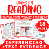 Reading Comprehension Passages & Questions | Evidence & Inferences | Grade 3-4