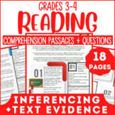Reading Comprehension Passages & Questions | Evidence & In