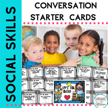 Conversation Starters Cards to guide Conversation SpEd ELL Speech Grades Pre-K-2