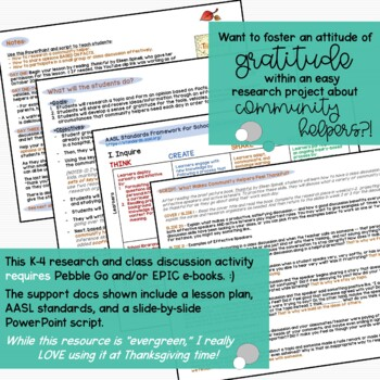 Let's Talk about It! - What Makes Community Helpers Feel Thankful?