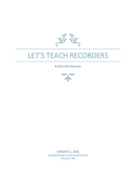 Let's Teach Recorders