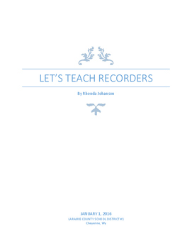 Let's Teach Recorders