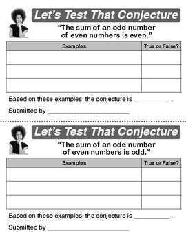 Let's Test That Conjecture: Odd and Even Numbers, Parity and Constructive Proofs