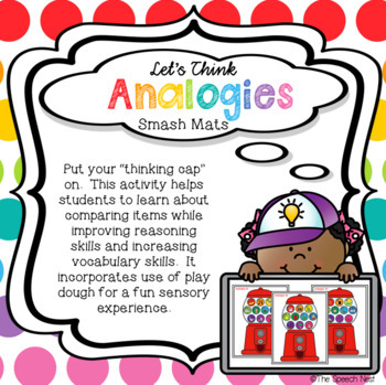 Let's Think Analogies Smash Mats - A Sensory Activity with Play Dough