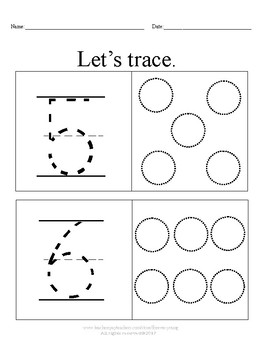 Let's Trace & Write Our Numbers!  1-10