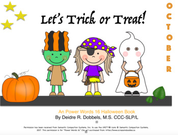 Let's Trick or Treat: Halloween Core Vocabulary Set