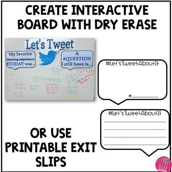 Exit Slips & Bulletin Board Kit: Let's Tweet