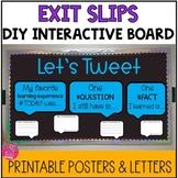 Exit Slips & Bulletin Board Kit Twitter