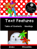 Let's Use Text Features  1st and 2nd Grade