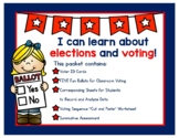 Let's Vote! Kid friendly ballots, voter ID cards, and cut