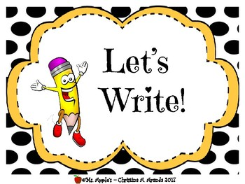 Let's Write! by Ms Apple's | Teachers Pay Teachers