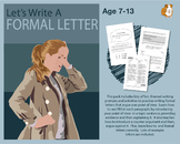 Let's Write A Formal Letter (7-11 years)