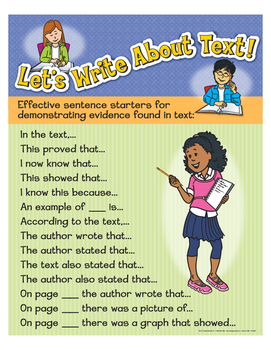"Let's Write About Text!- 8½"" x 11"""