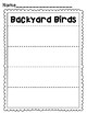 Let's Write Backyard Bird Words!