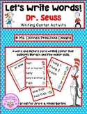 Let's Write Dr. Seuss Words!