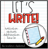 Let's Write! Graphic Organizers