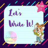 Let's Write It!  Opinion, Informative and Narrative for Primary Grades