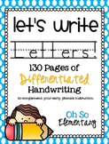 Differentiated Letter Handwriting