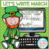 Let's Write March...Distance Learning...Interactive Google