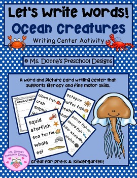 Let's Write Ocean Creature Words!