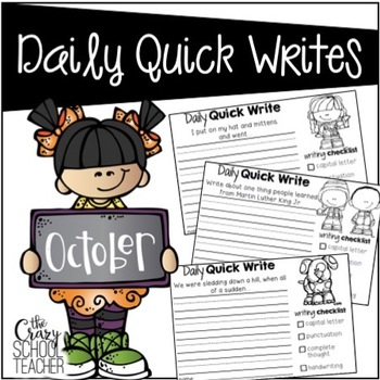 October Daily Quick Writing Prompts