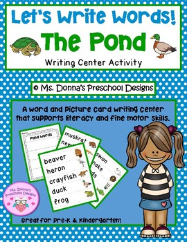 Let's Write Pond Words!