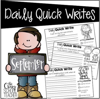 September Daily Quick Writes