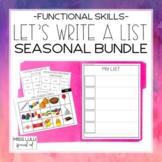 Let's Write a List: Seasonal Bundle (Functional Writing fo
