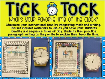 Let's Write a Paragraph! Telling Time: My Favorite Time of the Day