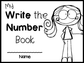 Let's Write the number book ~ NO-PREP