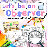 Let's be an observer worksheet- (First level to be a good scientist)