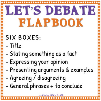 Let's debate - Debate vocabulary ✀ FLAPBOOK