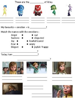 Let's discover the name of the emotions from the film INSIDE OUT!