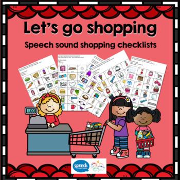 Let's go shopping - Shopping I Spy for Articulation Homework