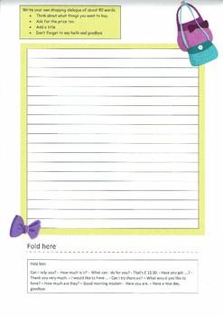 Let's go shopping - Writing (ESL writing activity - beginner)