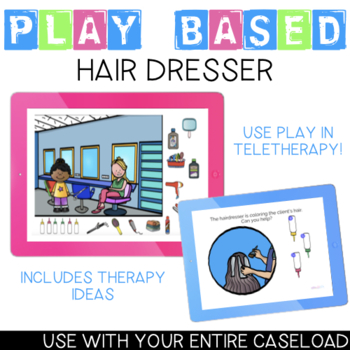 Let's go to the Hairdresser! Play-Based BOOM Card for Preschool Speech Therapy