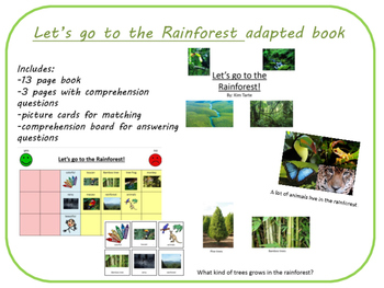 FREE Let's go to the Rainforest adapted book