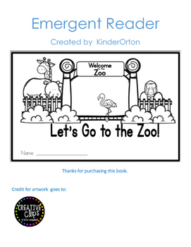 Let's go to the Zoo - Emergent Reader